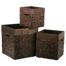 Storage Box - Square - Set of Three - Water Hyacinth £299.99