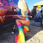 """344 Likes, 21 Comments - SPACE ☆ BOOTS (@shopspaceboots) on Instagram: """"OH HEY @supremekayla15 being LITTTT  af and taking over EDC Orlando in her Discotech Stompers…"""""""