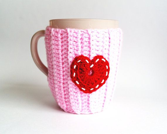 Crochet Mug Warmer Cup Cozy Cup Buttoned Mug Seater by CatANeedle