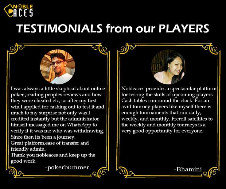 This is what gets us going everyday. Thank you for your valued testimonials.  #NobleAces #Testimonials