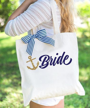 Look what I found on #zulily! 'Bride' Nautical Tote Bag #zulilyfinds