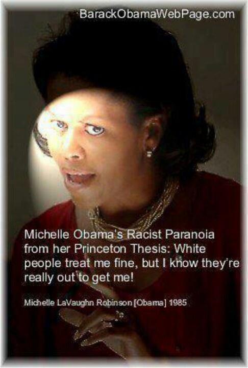 Michelle Obama hates white women, white civilization