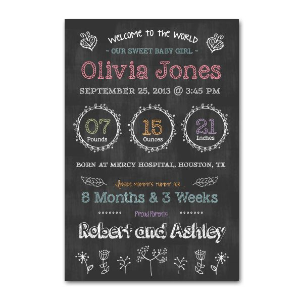 newborn chalkboard poster template word pinterest products poster and newborns. Black Bedroom Furniture Sets. Home Design Ideas