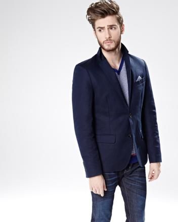 Tailored linen blend blazer