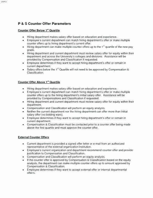 Counter Offer Letter Template Lovely 12 13 Counter Offer Letter Sample With Salary Letter Templates Job Letter Letter Template Word