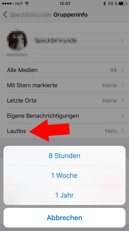 Whatsapp Benachrichtigungen Stumm Schalten
