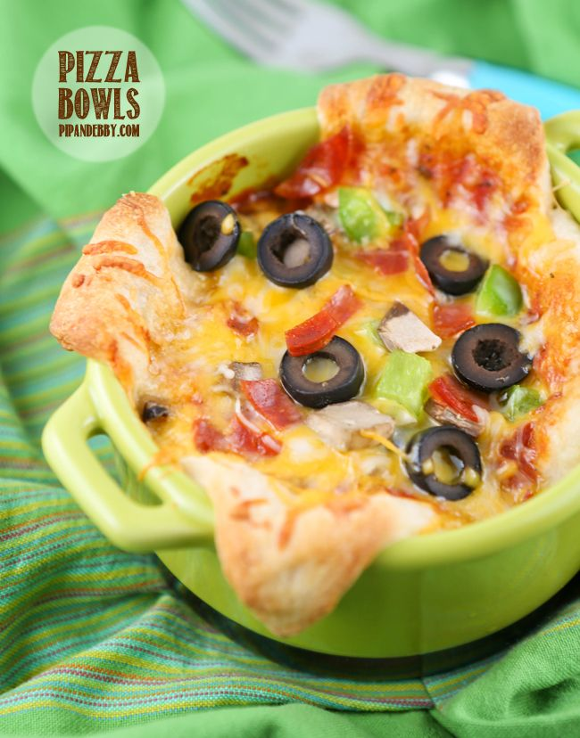 "Pizza Bowls (""Interesting Pizzas"") — Pip and Ebby"