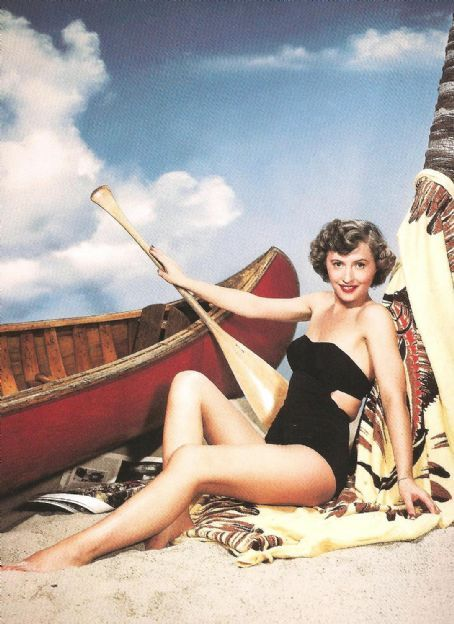 Actress Barbara Stanwyck Shipwrecked In A Vintage Black