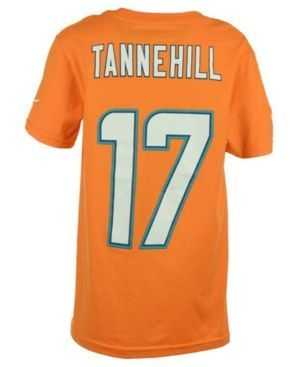 Nike Boys' Ryan Tannehill Miami Dolphins Pride Name and Number T-Shirt  - Orange XL