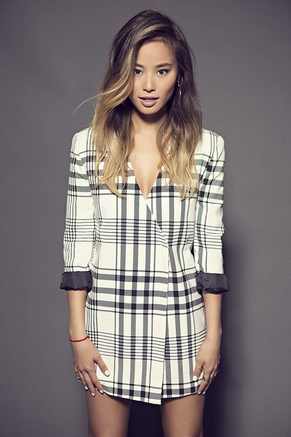 Black and White plaid jacket | Jamie Sung