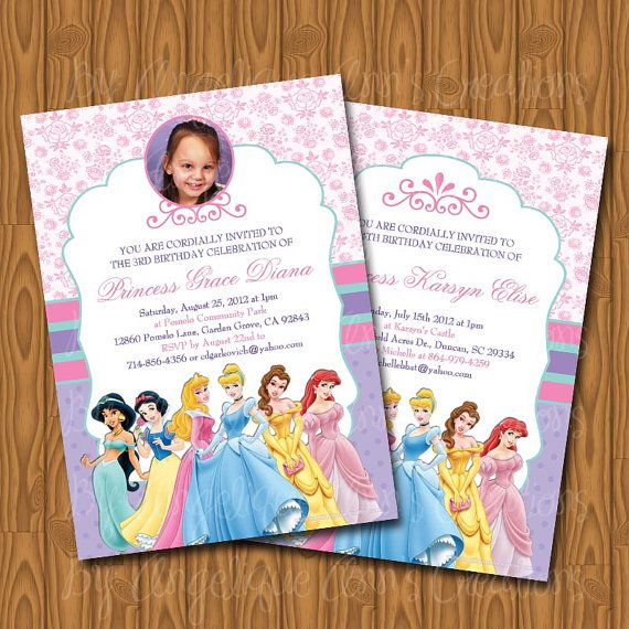 298 best images about Disney Princess Birthday Party – Disney Princess Tea Party Invitations