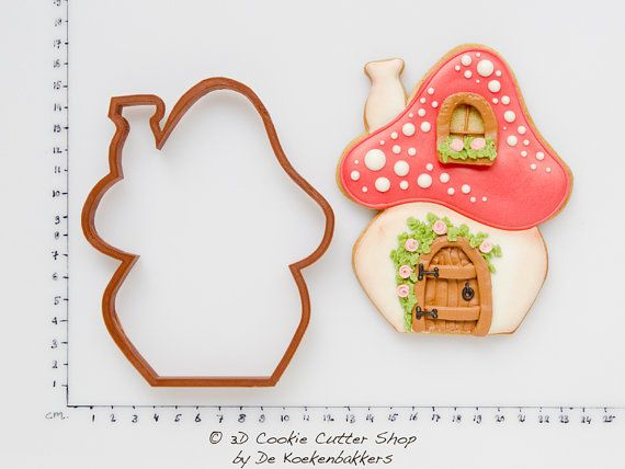 Toadstool House Cookie Cutter by 3DCookieCutterShop on Etsy