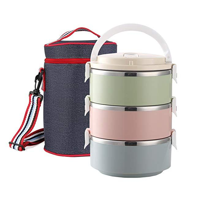 503ce55da6e0 Lunch Box Stainless Steel 100% Leakproof Lunch Container with ...