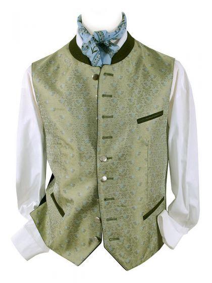 Trachtenweste Herren Grün-Blau - edle Hochzeitsweste - Trachten-Gilet - zur Trachtenlederhose oder Anzug
