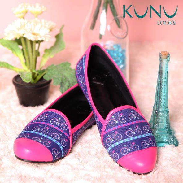 BIKE ME PINK Flat Shoes Sepeda