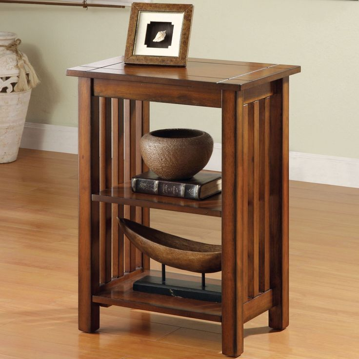 furniture of america antique oak end table by furniture of america