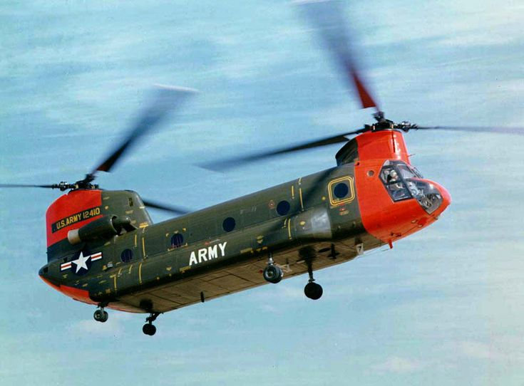 HC-1B in flight being tested and evaluated - Boeing CH-47 Chinook