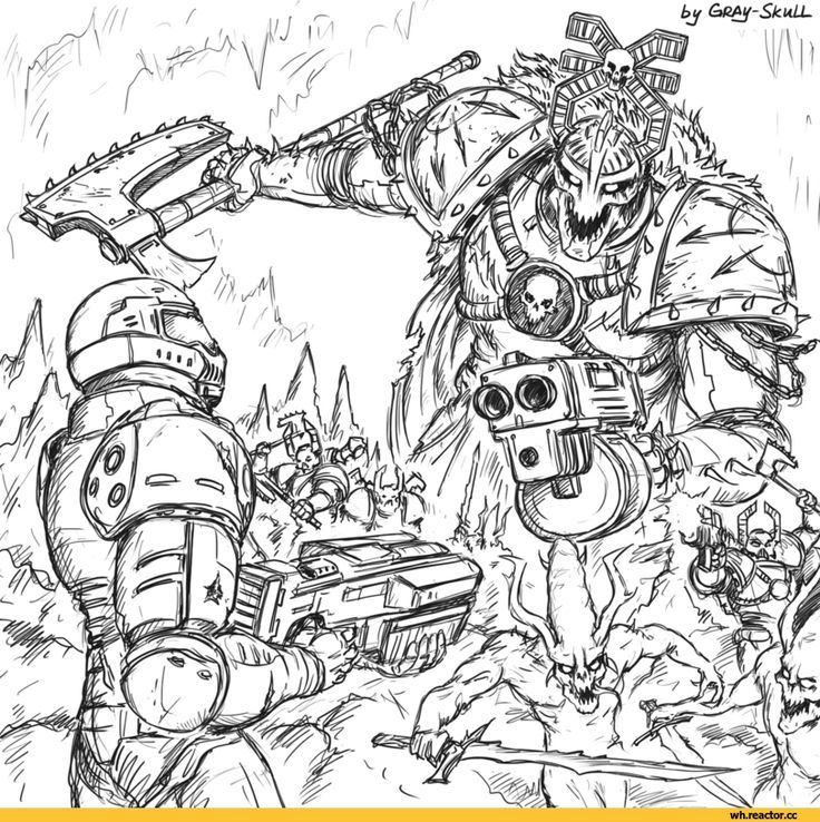 Gray-Skull, Warhammer 40000, warhammer40000, warhammer40k, warhammer 40k, Wah, Forty-Thousand, Fandom, Doom (game), Games, Wh Crossover, Wh Other, Khorne, Chaos (Wh 40000), bloodletter, Chaos Space Marine