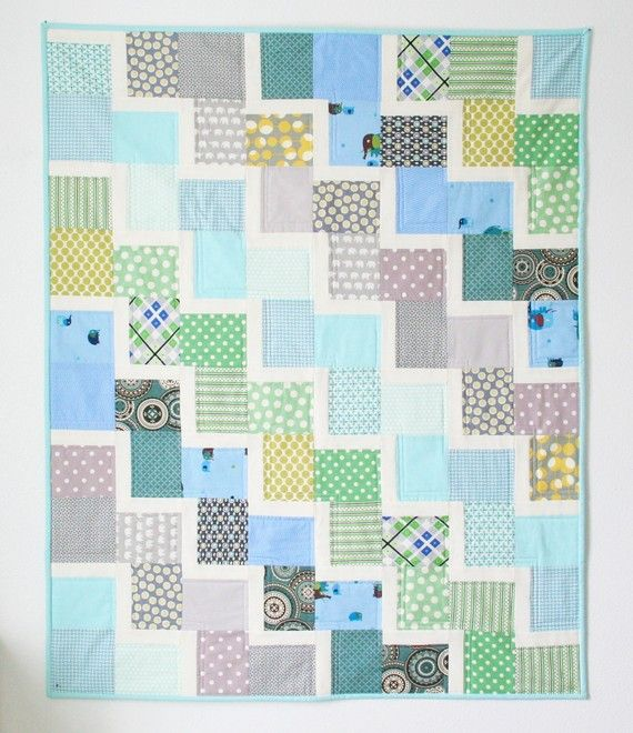 Little Climber Baby Quilt by cluckclucksew on Etsy