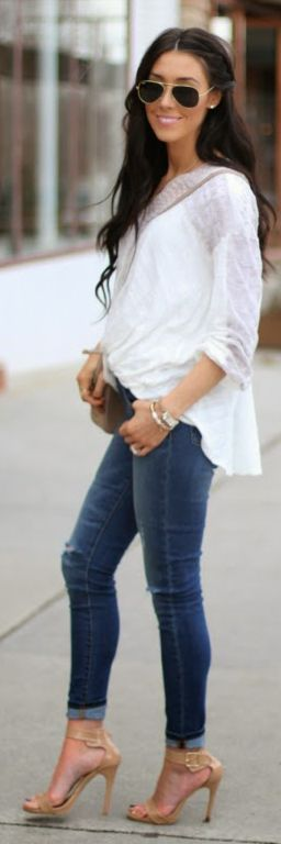 Flowing Blouse Inspiration Outfit