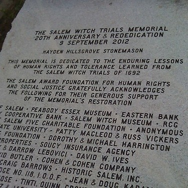 Rededication of the Salem Witch Trials Memorial. #salem