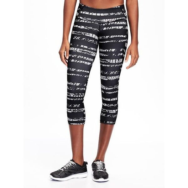 Old Navy Womens Go Dry Mid Rise Printed Compression Crop ($27) ❤ liked on Polyvore featuring activewear, activewear pants, petite, athletic sportswear, petite sportswear, old navy, compression sportswear and petite activewear pants