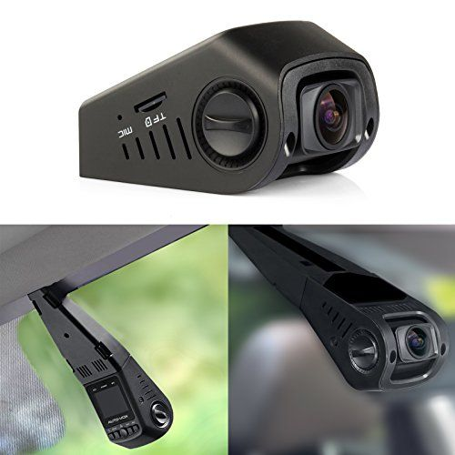 AUTO-VOX A118-C B40C Stealth Car Dashboard Camera Capacitor Edition Covert Mini Dash Cam Full 1080P HD video No Internal Battery 170ã Super wide angle 6G Lens with G-sensor WDR Night Vision Loop Recording