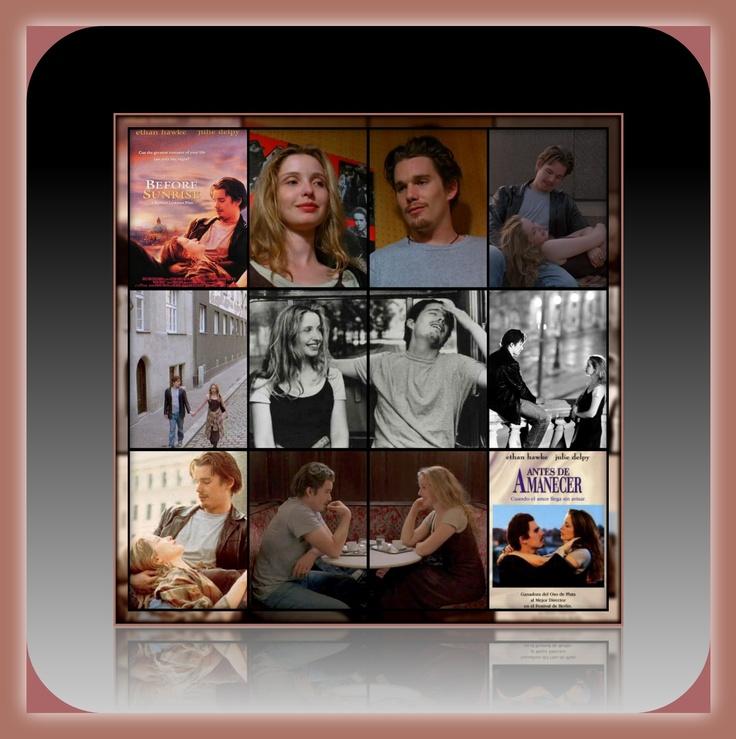 """Antes del Amanecer (1995) """"Drama romántico""""  DIRECTOR: Richard Linklater  REPARTO: Ethan Hawke, Julie Delpy"""