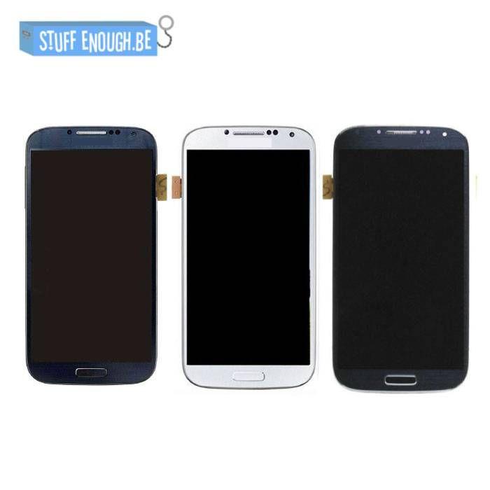 Galaxy S4 i9500 AAA+ LCD scherm Blauw/Zwart/Wit