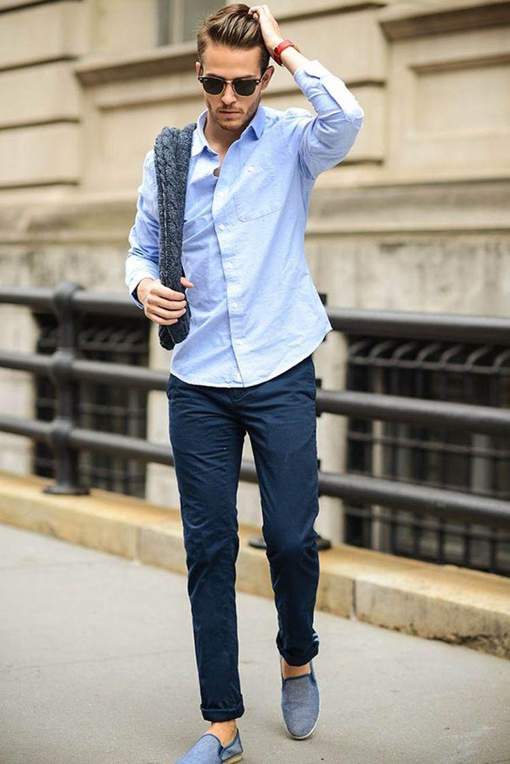 エスパドリーユ,ネイビーコットンクロップドパンツ,青シャツ,メンズ着こなしコーデ夏服