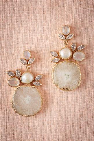 Druzy Drop Earrings from @BHLDN