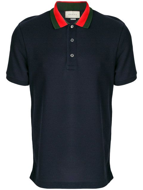 69424b7552a140 GUCCI Embroidered Appliqué Polo Shirt