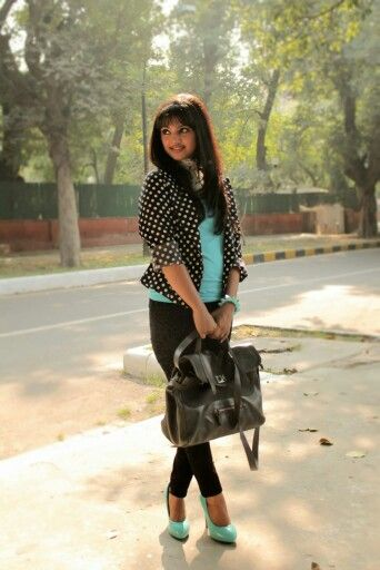 Love the outfit i wore in my last post. #zara #myntra.com #fashionblogger #fashion #polka