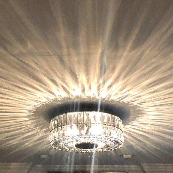 Adeline Crystal Flush Mount Pottery Barn Flush Mount Ceiling Lights Crystal Ceiling Light Light Fixtures Flush Mount