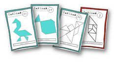 Des fiches de modèles de tangrams à utiliser en autonmie