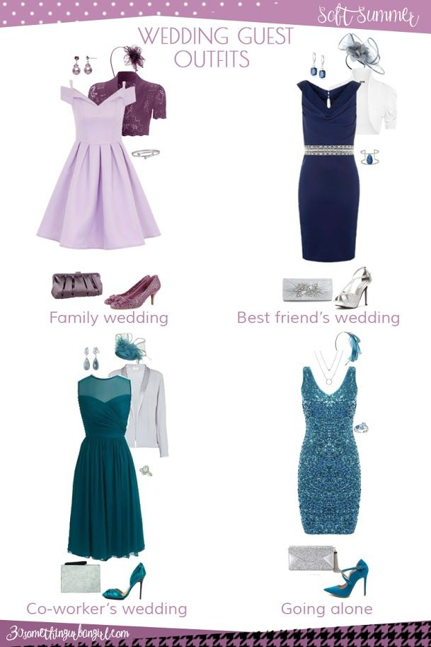 Wedding guest outfit ideas for Soft Summer and Soft Autumn ...