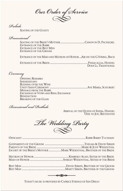 Best  Wedding Program Examples Ideas On   Wedding