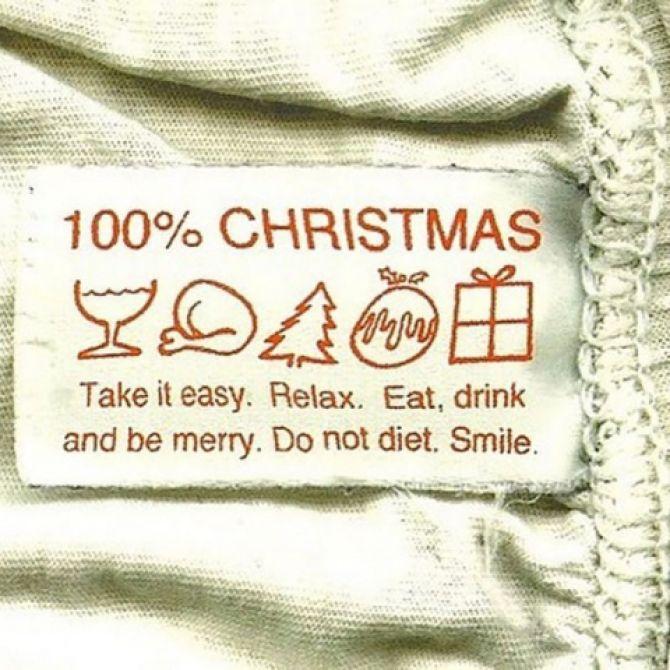100 % Рождества. Успокойся. Расслабься. Ешь, пей, веселись. Не сиди на диете…