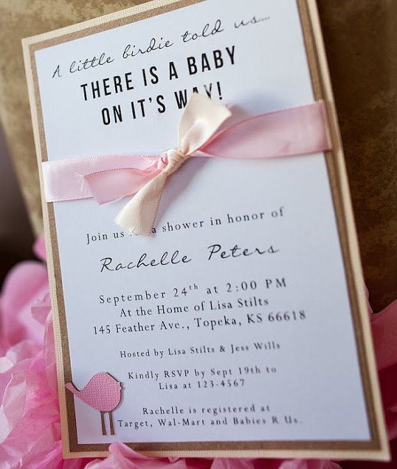 etsy handmade baby girl baby showers baby shower invitations baby