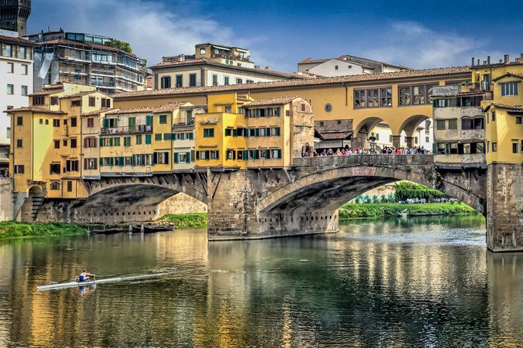 Skulling Ponte Vecchio Florence By Stan Noteboom On