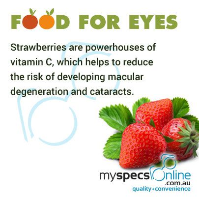 #Strawberries are powerhouse of vitamin C which helps reduce the risk of developing macular degeneration and cataracts.