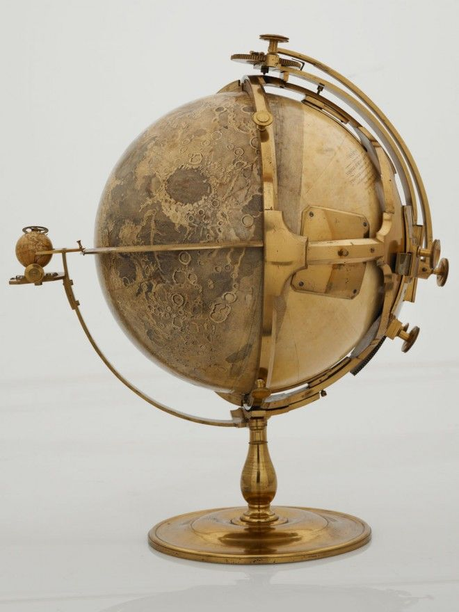 This ridiculously awesome moon globe was made by the artist John Russell in 1797. British Library