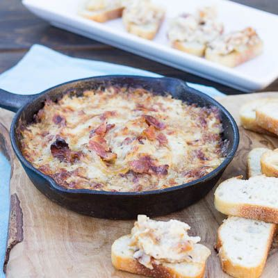 Hot Caramelized Onion Dip with Bacon and Gruyere | Recipe | Onion Dip ...