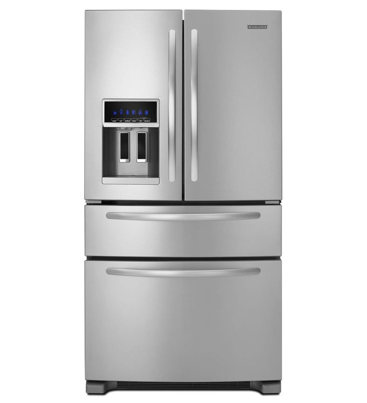 Kitchenaid 25 cu ft standard depth four door french for Kitchenaid f series