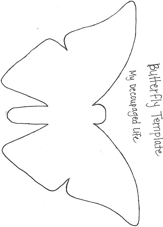 Best Butterly Templates Images On   Butterflies