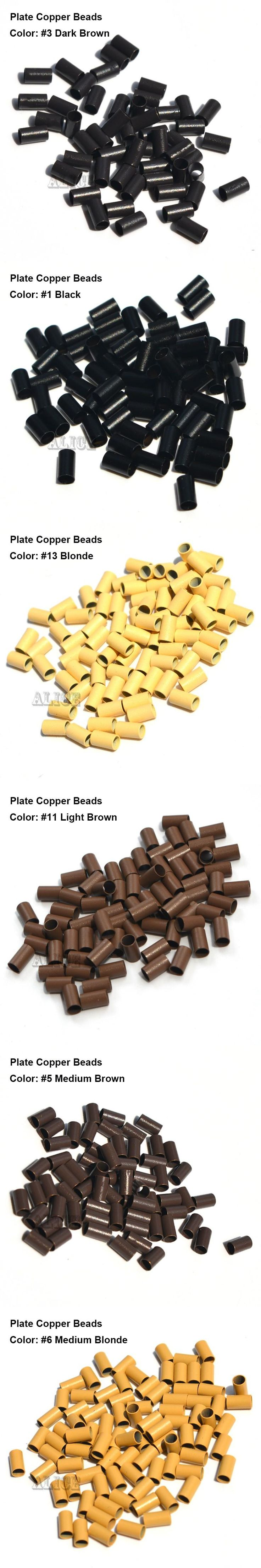 Plate Edge Copper Micro Rings 3.4*3.0*6.0mm Micro Rings Tube1000pcs/Lot Micro Ring Hair Extensions Tools
