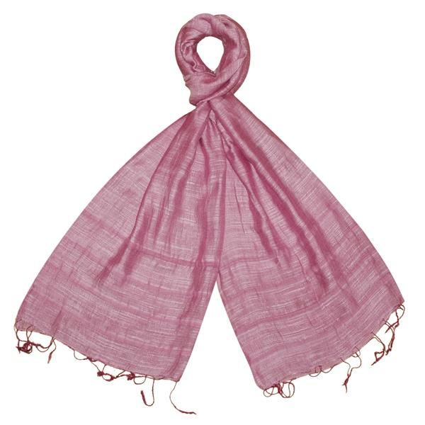 Silk & Linen Scarf - Pink