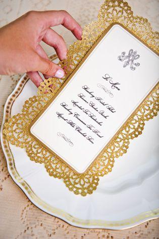 Marie Antoinette-inspired bridal luncheon invitation.