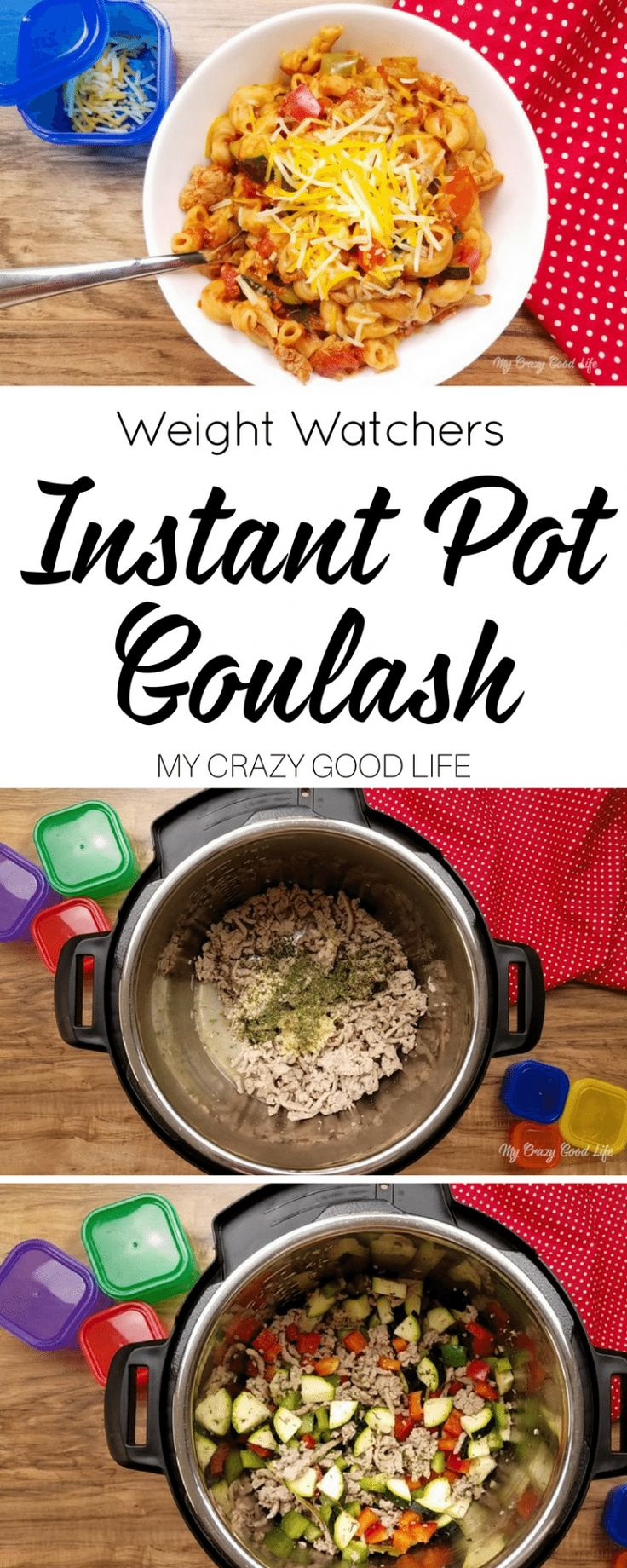 This healthier goulash recipe an easy one pot meal! Instant Pot Goulash is a fas…