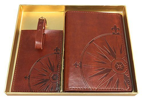 New Trending Luggage: Eccolo World Traveler Journal Faux Leather Passport Holder and Luggage Tag Set (Compass). Eccolo World Traveler Journal Faux Leather Passport Holder and Luggage Tag Set (Compass)   Special Offer: $21.99      433 Reviews Eccolo World Traveler Journal Faux Leather Passport Holder and Luggage Tag Set. Stylish cover for your passport keeps your papers in place Fits passport on one...